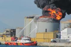 tugboat fire fight